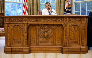 Barack Obama at Resolute Desk